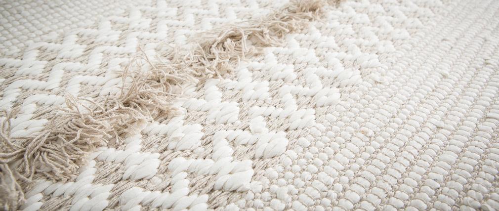 Tapis ivoire coton 160x230 cm HYGGE