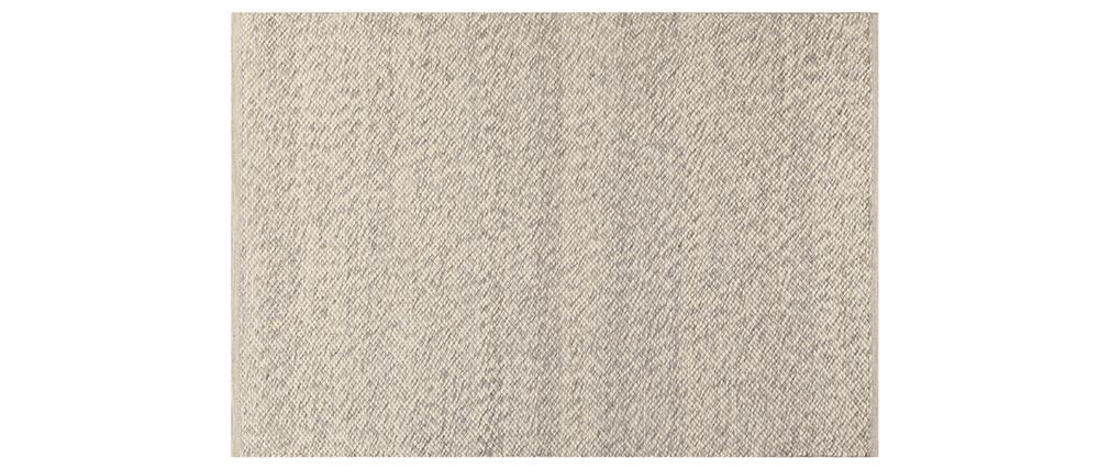 Tapis ivoire en laine 140 x 200 cm WOOL