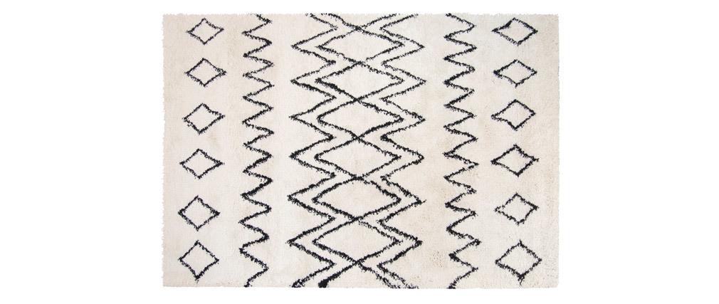 Tapis ivoire et noir polypropylène 160x230 cm AZETTA