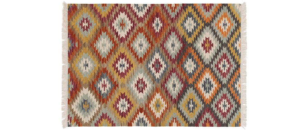 Tapis kilim tissé main en laine et coton 160 x 230 cm CHEYENE