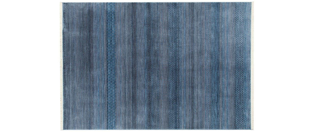 Tapis moderne à motifs bleus 160 x 230 cm INDIGO
