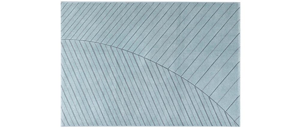 Tapis moderne bleu clair 160 x 230 cm PALM