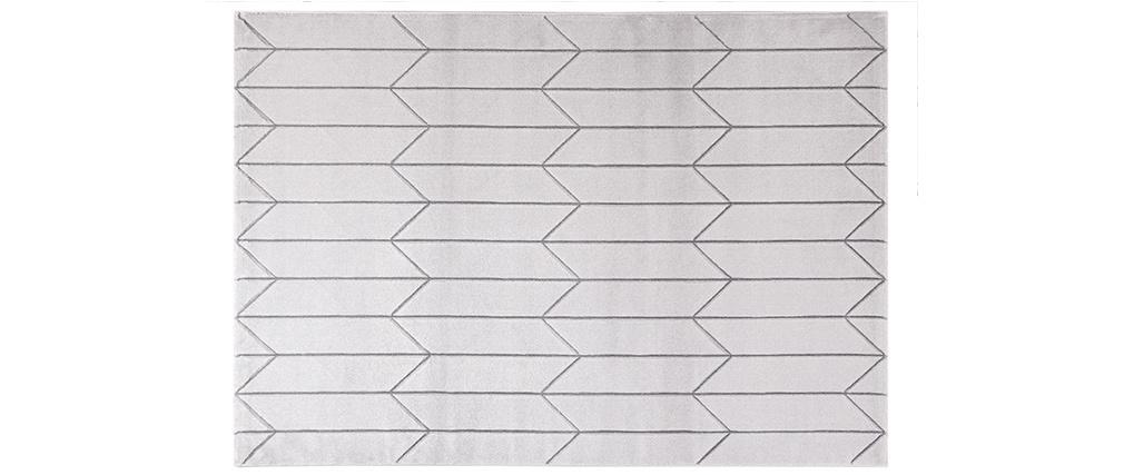 Tapis moderne gris avec motif graphique ARROWS