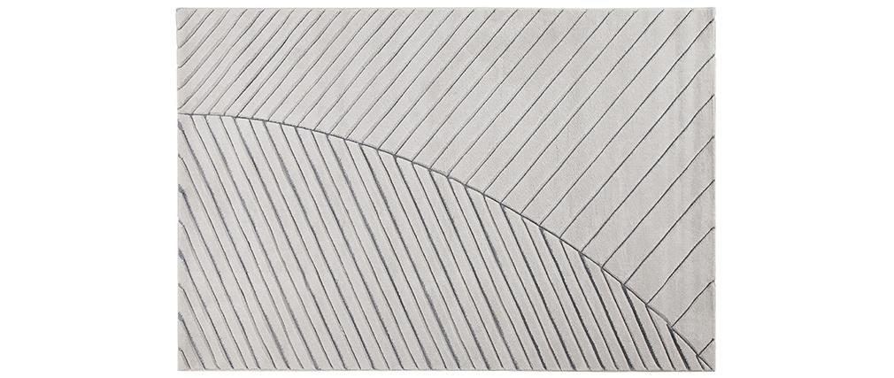 Tapis moderne gris clair 160 x 230 cm PALM