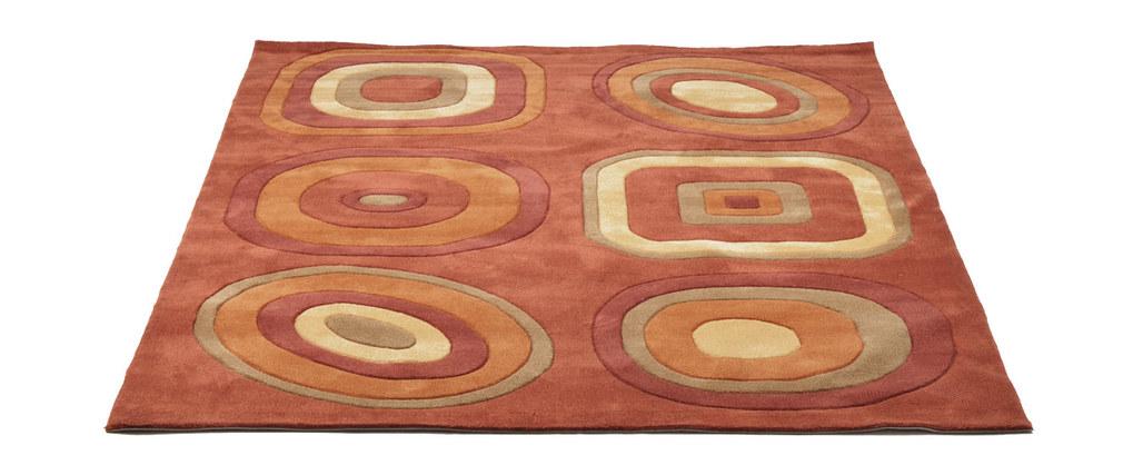 tapis moderne orange et rouge lys miliboo. Black Bedroom Furniture Sets. Home Design Ideas