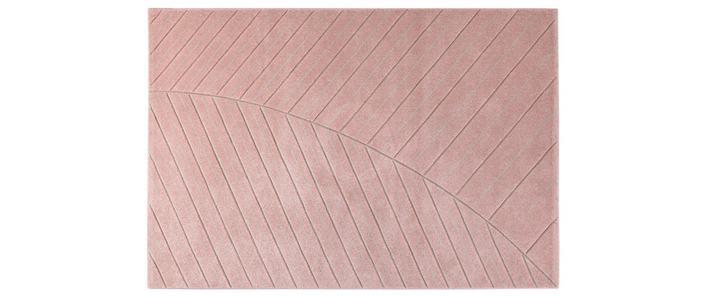 Tapis moderne rose 160 x 230 cm PALM