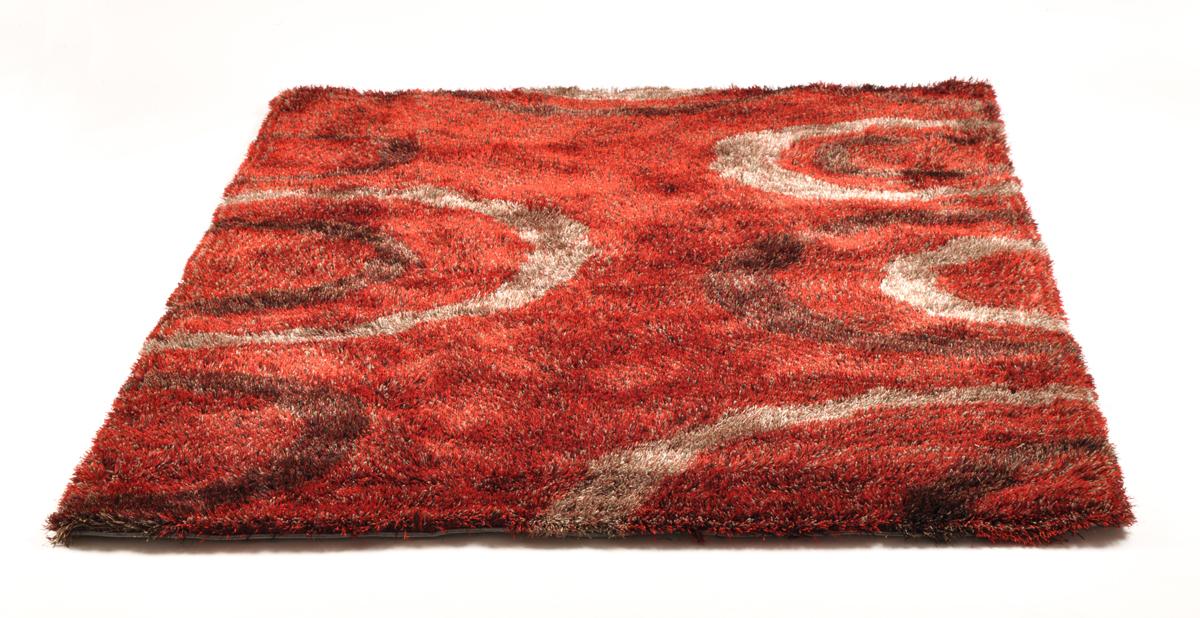 Tapis moderne rouge avec motifs aloes miliboo for Tapis moderne avec canapé texas