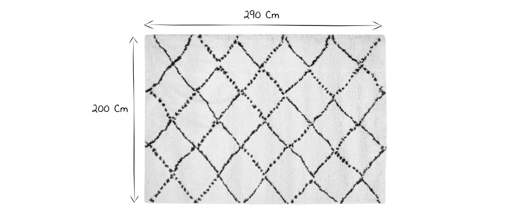 Tapis polypropylène kaki 200 x 290 cm BERBERE