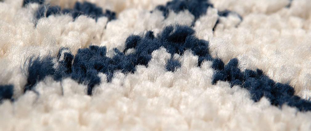 Tapis polypropylène naturel et bleu 120 x 170 cm BERBERE