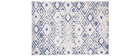 Tapis réversible intérieur extérieur à motif bleu 160 x 230 cm BELIZ