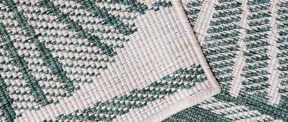 Tapis réversible intérieur extérieur motif floral vert 160 x 230 cm KONKA