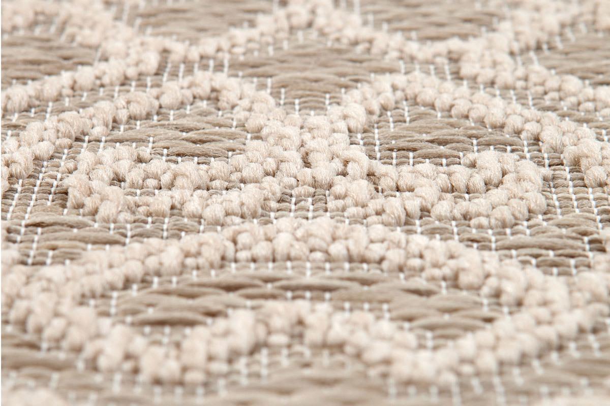 tapis rond d exterieur naturel 160 cm
