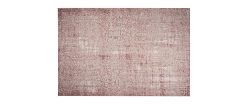 Tapis rose acrylique et coton 155x230 USED