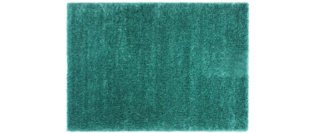 Tapis shaggy 160x230 turquoise flavio miliboo - Tapis shaggy bleu turquoise ...