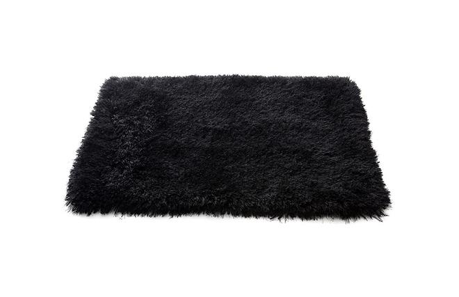 tapis shaggy noir. Black Bedroom Furniture Sets. Home Design Ideas