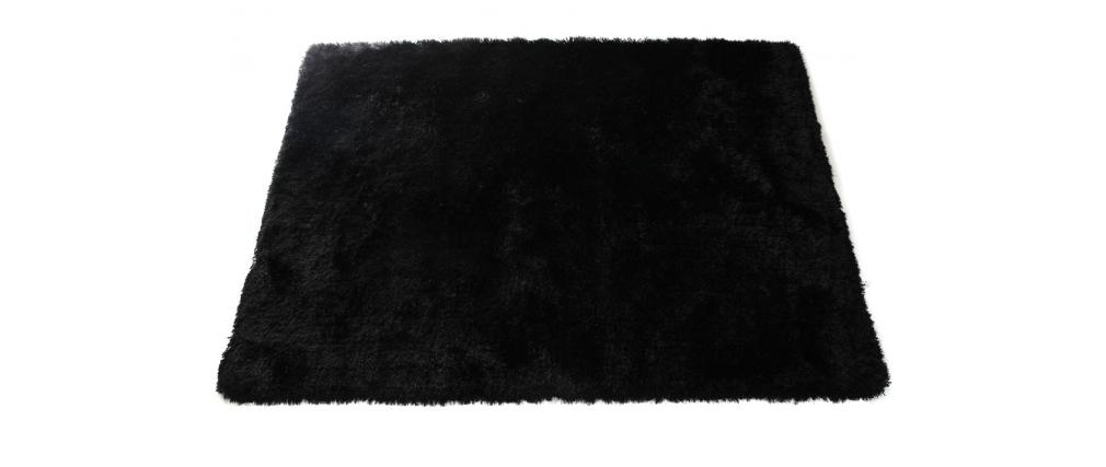 tapis shaggy noir 160x230 cm ugo miliboo. Black Bedroom Furniture Sets. Home Design Ideas