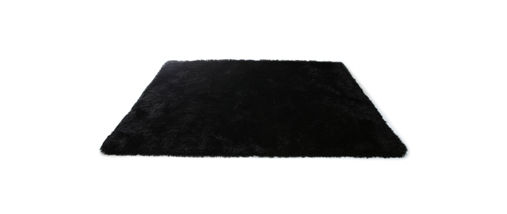 tapis shaggy noir 160x230 cm ugo miliboo. Black Bedroom Furniture Sets. Home Design Ideas