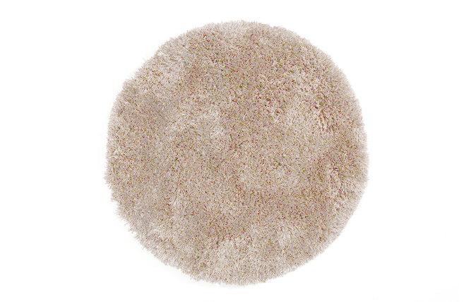 tapis shaggy rond beige 100 cm ugo miliboo. Black Bedroom Furniture Sets. Home Design Ideas