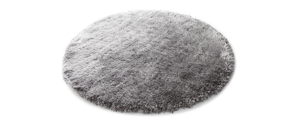 tapis shaggy rond gris 150 cm ugo miliboo. Black Bedroom Furniture Sets. Home Design Ideas