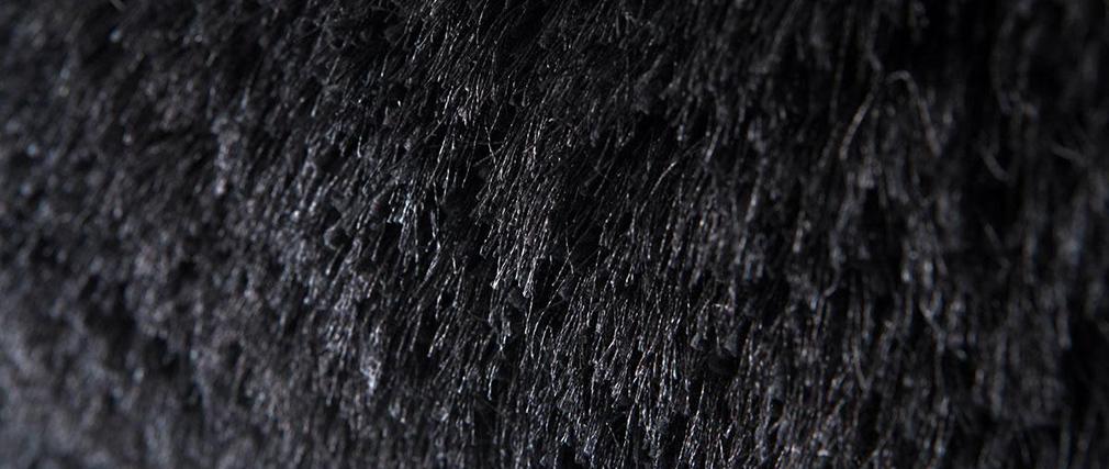tapis shaggy rond noir 150 cm ugo miliboo. Black Bedroom Furniture Sets. Home Design Ideas
