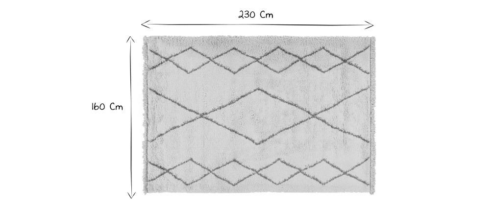 Tapis style berbère gris 160 x 230 cm TRIBU