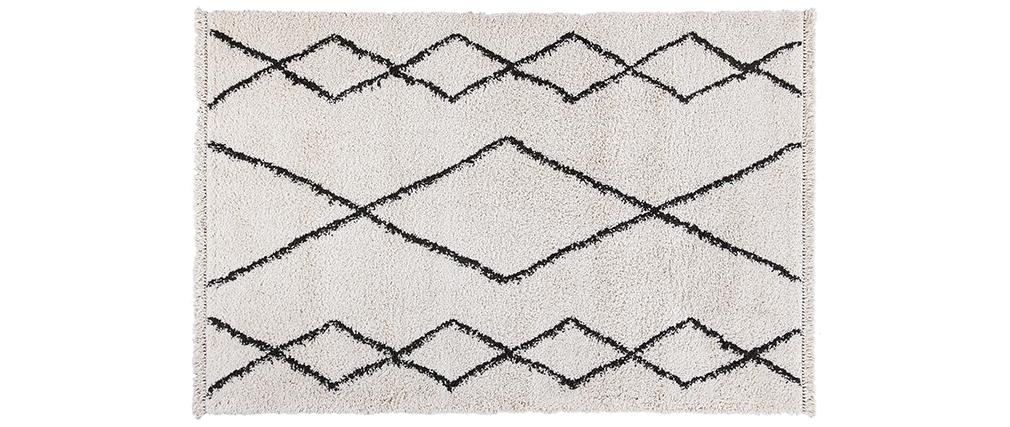 Tapis style berbère gris et blanc 160 x 230 cm TRIBU