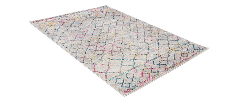 Tapis style berbère gris et multicolore 200 x 300 cm CIELO