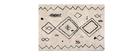 Tapis style berbère ivoire et noir 160 x 230 cm YAKIMA