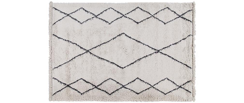 Tapis style berbère motif noir 160 x 230 cm TRIBU