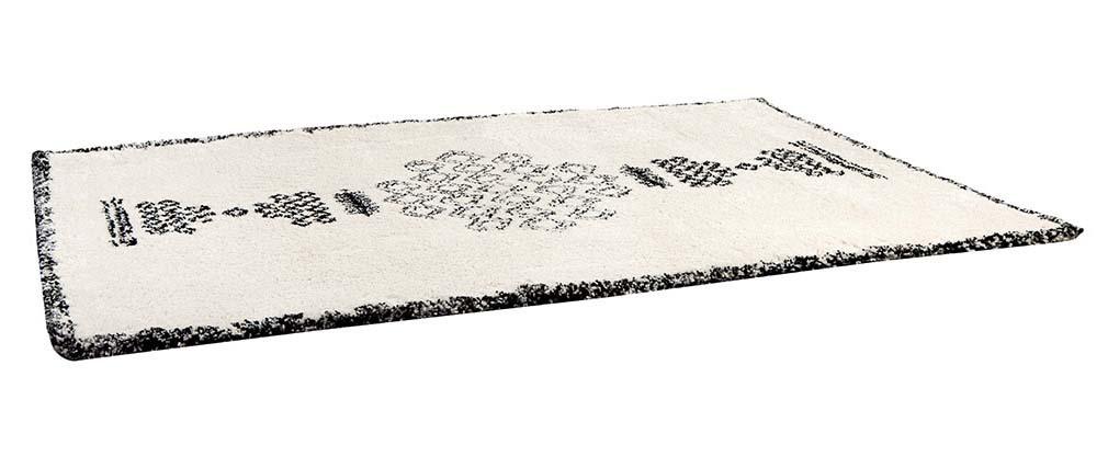 Tapis style berbère noir et blanc 160x230 cm OYO