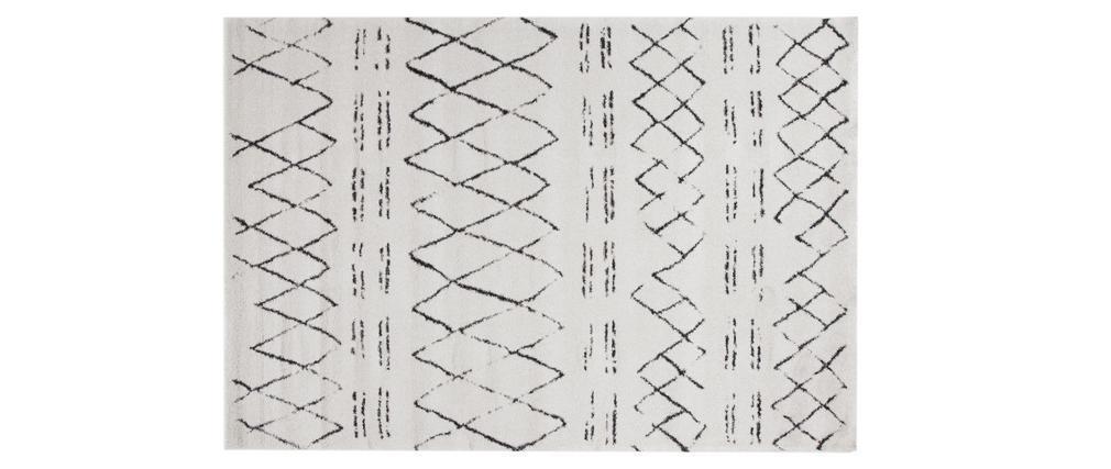 Tapis style berbère noir et écru 160 x 230 cm AURES