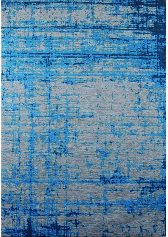 Tapis vintage bleu 155x230cm SOLMI
