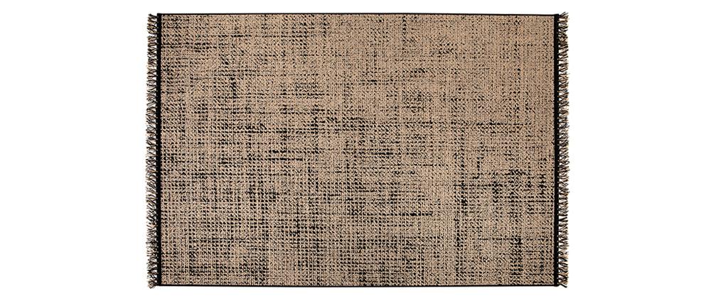 Tapis vintage noir et naturel160 x 230 cm ALVA