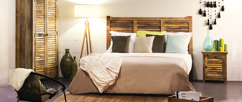 t te de lit 160 lacanau miliboo. Black Bedroom Furniture Sets. Home Design Ideas