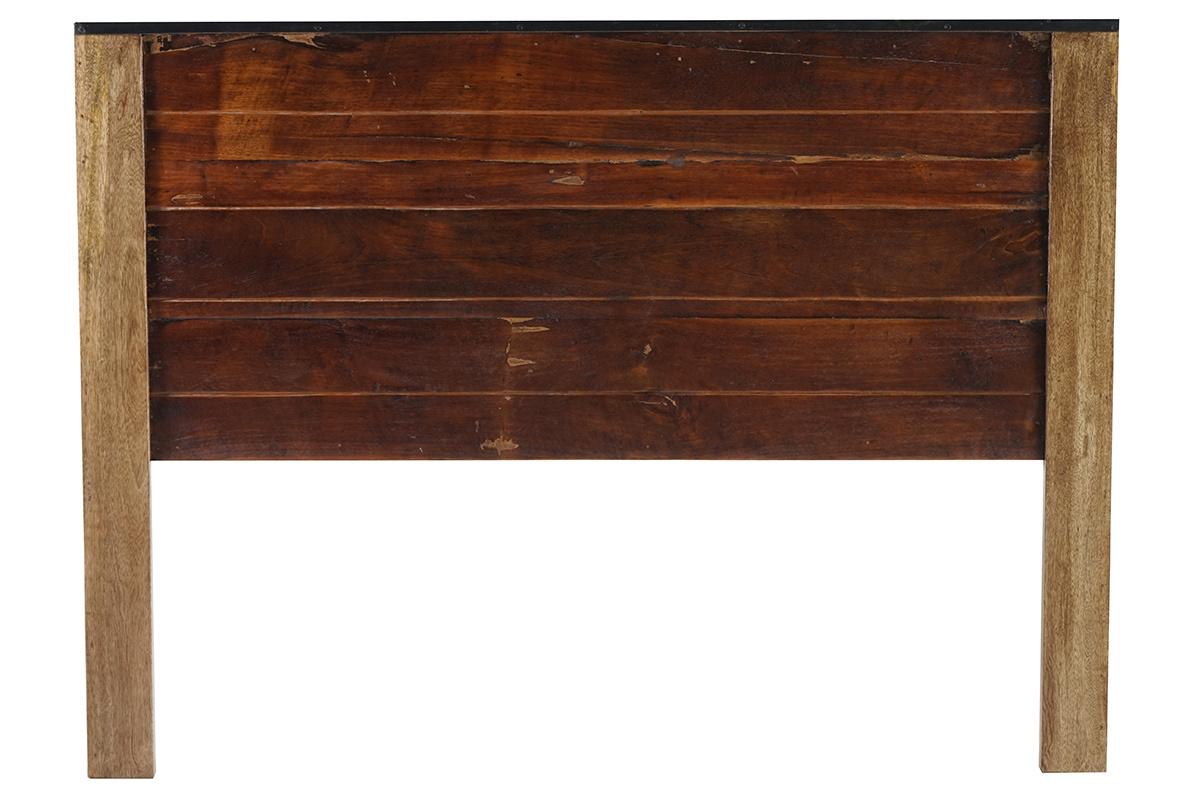 Promotion 13 t te de lit 160x200 bois recycl madras - Tete de lit bois recycle ...