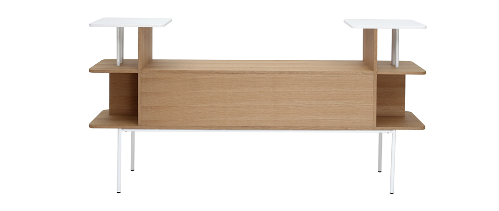 Tête de lit - Bureau bois et blanc AMANDA