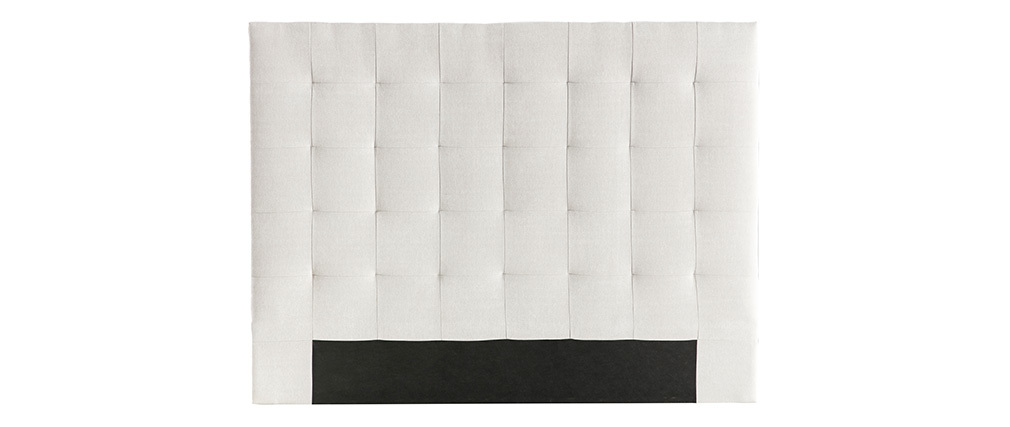 Tête de lit capitonnée en tissu beige 160 cm HALCION