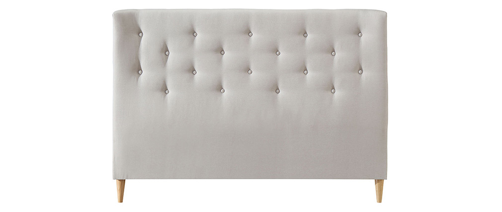 Tête de lit capitonnée en tissu beige 170 cm EROS