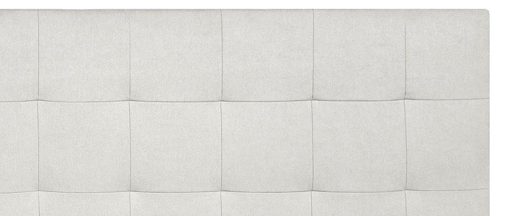 Tête de lit capitonnée en tissu beige 180 cm HALCIONA