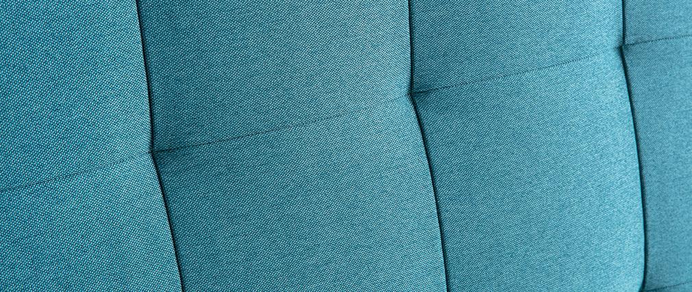 Tête de lit capitonnée en tissu bleu canard 160 cm HALCION