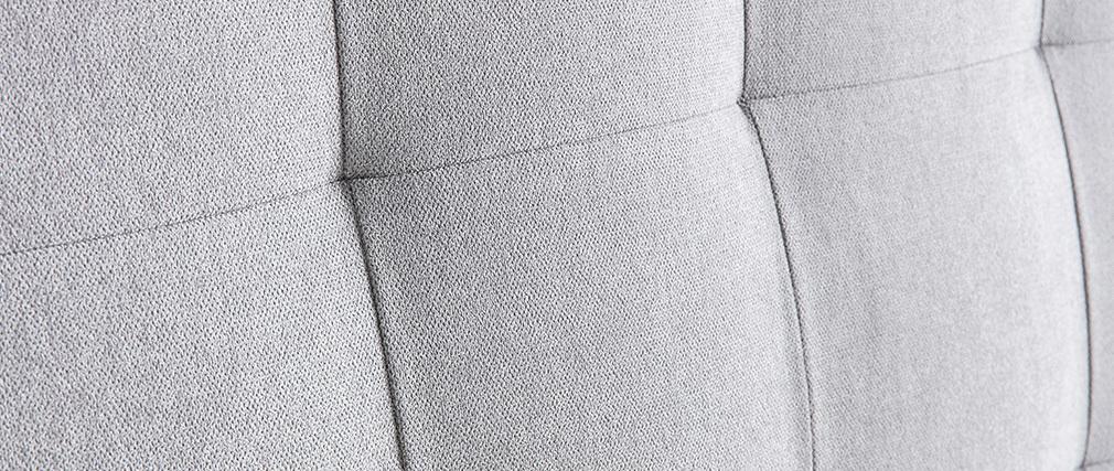 Tête de lit capitonnée en tissu gris 140 cm HALCIONA