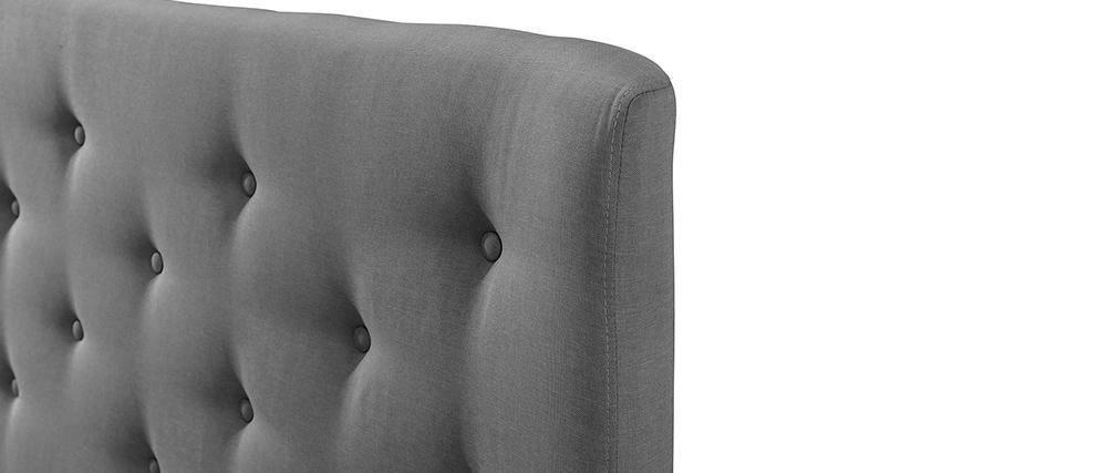 Tête de lit capitonnée en tissu gris clair 150 cm EROS