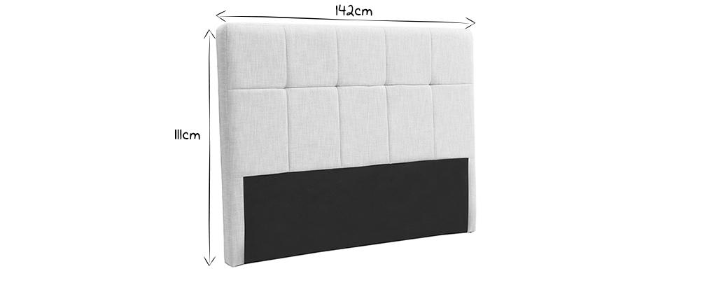 Tête de lit classique tissu beige naturel 140 cm CLOVIS