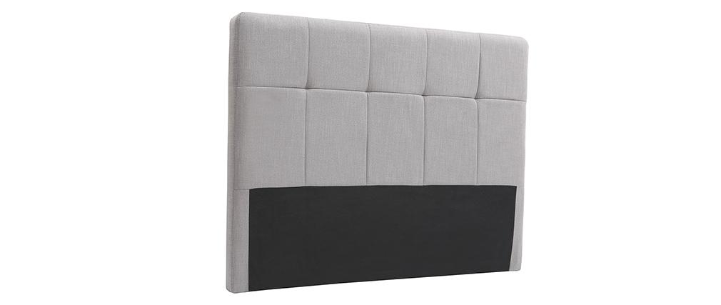 Tête de lit classique tissu gris clair 140 cm CLOVIS