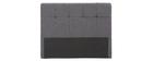 Tête de lit classique tissu gris foncé 140 cm CLOVIS