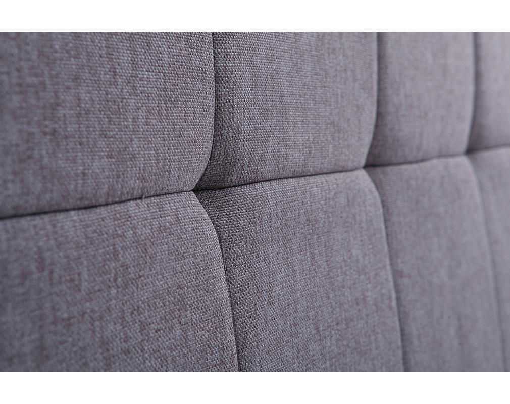 Tête de lit classique tissu gris foncé 140 cm CLOVIS - Miliboo