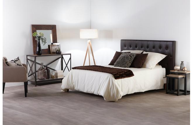 T te de lit design 180 capitonn e aspect marron vieilli for Chambre avec tete de lit capitonnee