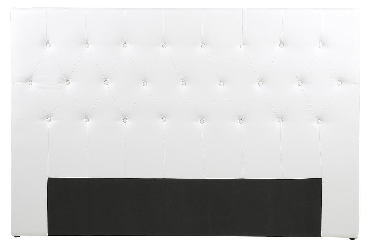 t te de lit design 180 capitonn e polyur thane blanc. Black Bedroom Furniture Sets. Home Design Ideas