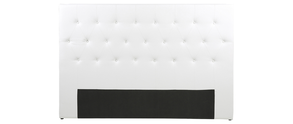 t te de lit design 180 capitonn e polyur thane blanc princess miliboo. Black Bedroom Furniture Sets. Home Design Ideas