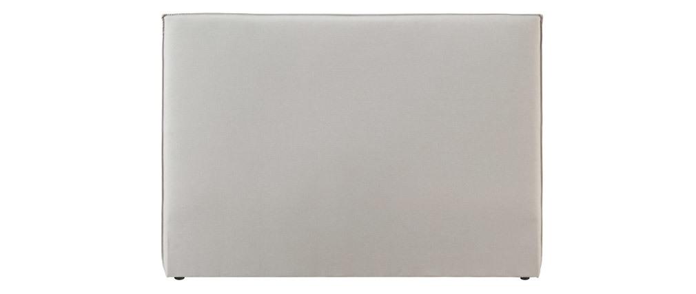 Tête de lit design en tissu beige 156 cm ATHENA